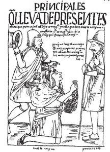 Grabado de Guamán Poma de Ayala (1535?-1615?)
