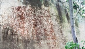 """""""Piedra de los tejidos"""", cultura muisca, Sutatausa. Fotografía: Diego Martínez"""