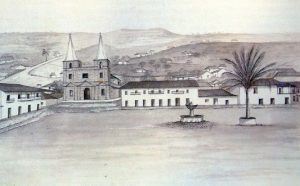 San Gil. Grabado de Joseph Brown, 1834