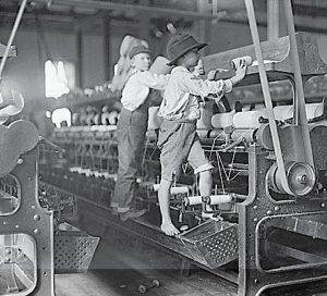 Niños trabajadores de la industria textil