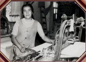 Rosa Flores, trabajadora de las fábricas. Fotografía: Archivo del Museo del Algodón y Fábricas de San José de Suaita