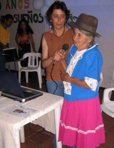 Encarnación Cala y Beatriz Granados en la celebración de los 20 años de la Corporación del Lienzo. Fotografía: Silvia Haug